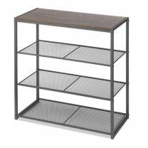 Wood & Metal Shelf  4 Tier