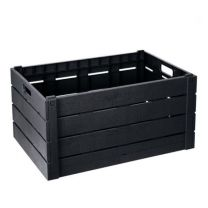 Folding Crate Wood Effect 60L-15.8Gal