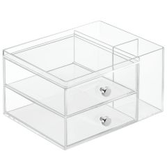 Clarity®-Organizer-Two-Drawer-+-Side-Holder-1