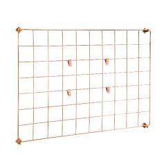 Copper Grid Wall