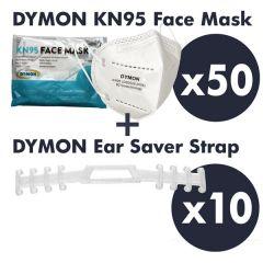 Family Protection Kit - 50 Masks & 10 Ear Savers
