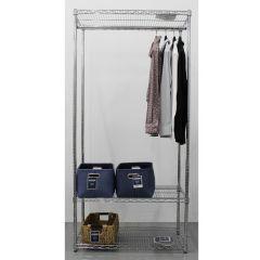 Dymon Wire Shelving Kit Garment Rack